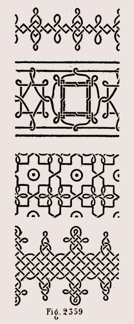 Entrelacs de marqueterie du XVe siècle sur meubles italiens