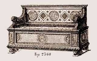 Coffre à dossier du XVIe siècle en marqueterie