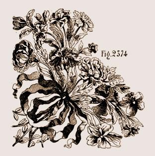 Bouquets et guirlandes en marqueterie Louis XIV