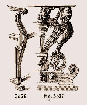 Pied de fauteuil, époque de la Renaissance