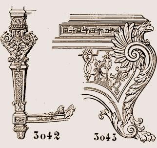 Pied de console, style Louis XIV