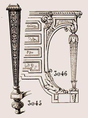 Boulle est le pied d'un meuble d'appui, style Louis XIV