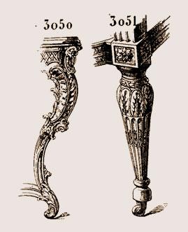 Pied de console, époque de Louis XV  et pied de fauteuil, XVIIIe siècle